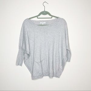 Mystree Grey Short Sleeve Lasercut Sweater Small